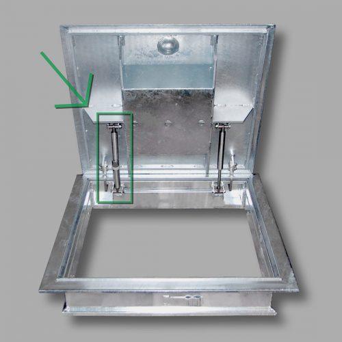 Gasdruckfeder mit Arretierung