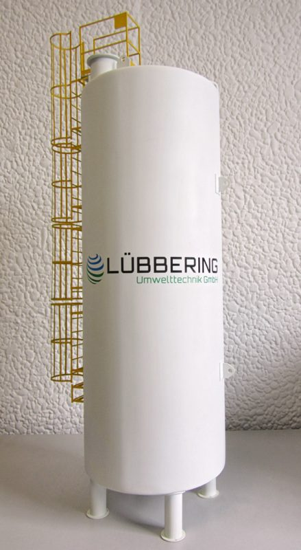 Modell eines Industriebehälters