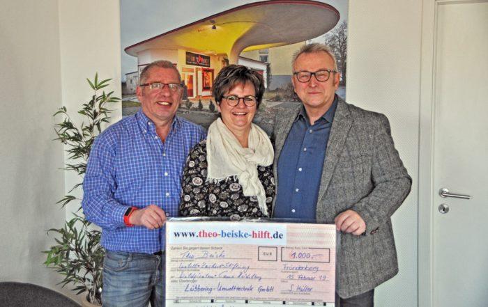 Theo Beiske, Susanne Müller und Jörg Müller (v.l.n.r.)