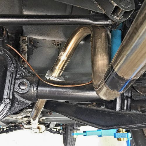 Cleaned car underbody